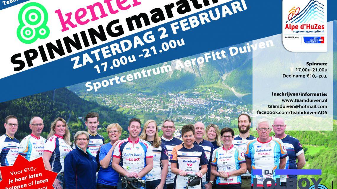 Kenter Spinningmarathon voor Alpe d'HuZes