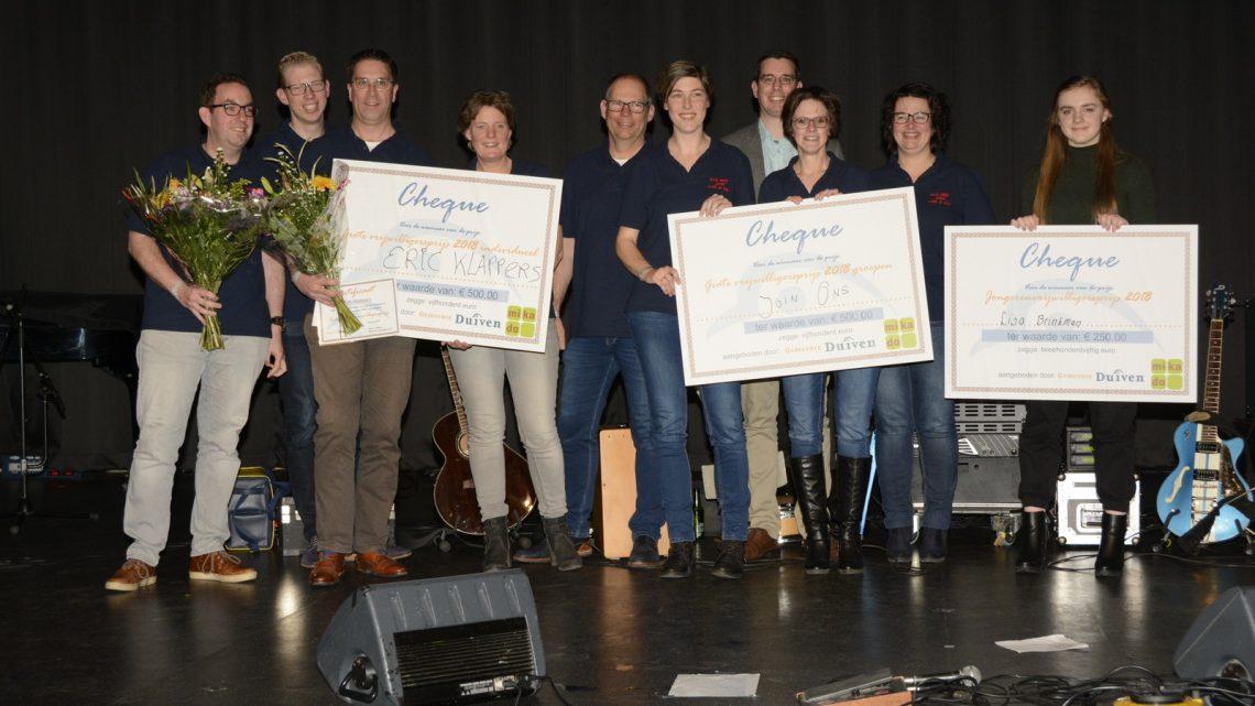 Winnaars Vrijwilligersprijzen 2018 gemeente Duiven