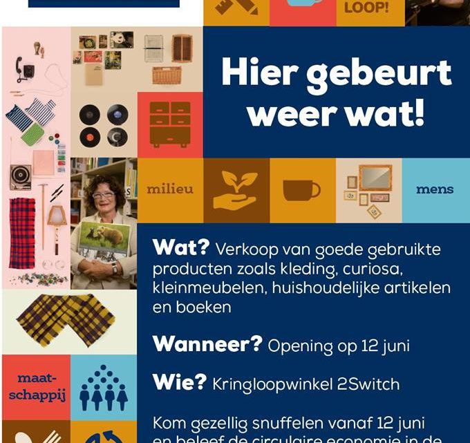 2Switch opent een Pop-up kringloopwinkel in Duiven