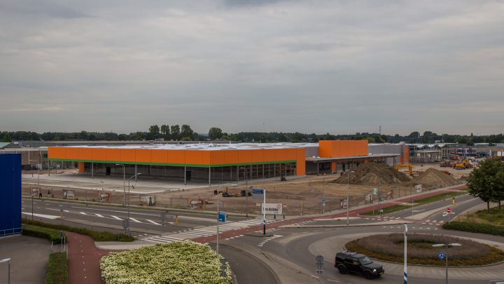 Bouw Hornbach Duiven gaat door tijdens bouwvak zodat deze in het voorjaar van 2020 kan openen