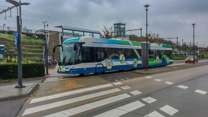 Trolleybus door de Liemers