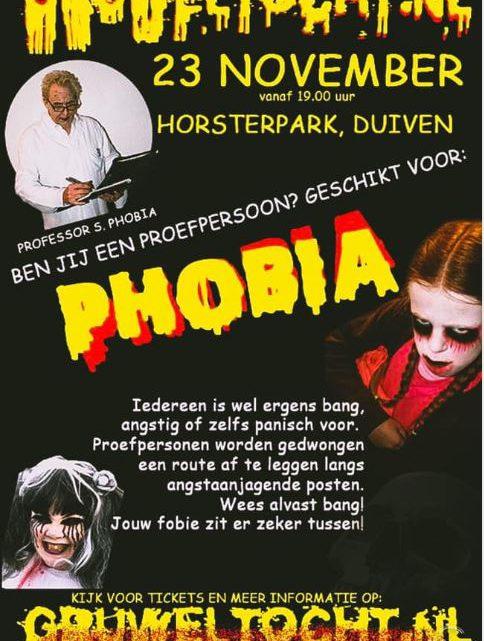 23 november: Gruwelijke nachtwandeltocht 'Phobia' in Duiven