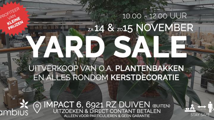Yard Sale bij Ambius in Duiven !