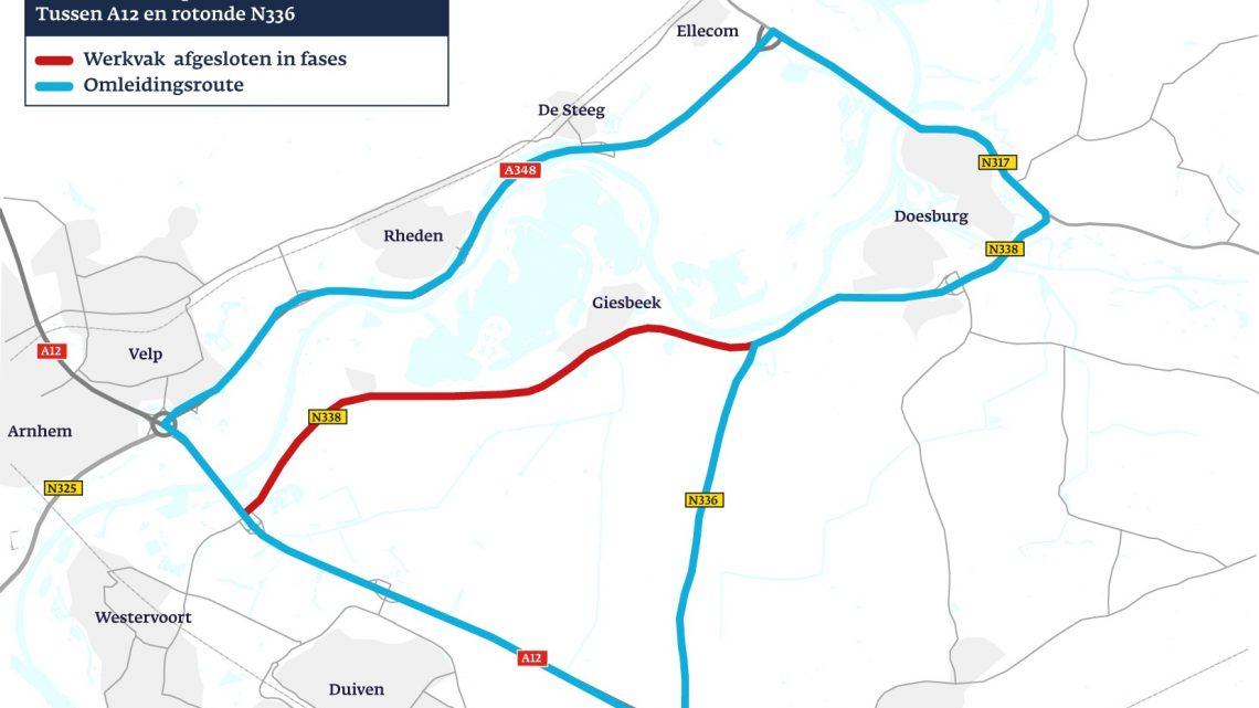 Rivierweg richting Doesburg bijna 2 maanden afgesloten